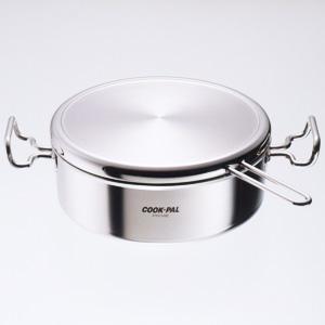 Cookpal Prime 不鏽鋼淺型雙手柄鍋24cm (日本製造)