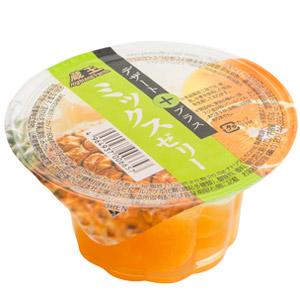 彈牙滑溜溜 黄桃蜜柑菠蘿啫喱 160g (山形縣製)
