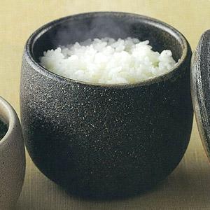 剩飯變鬆軟自製溫野菜 日本黑柿陶鉢 (日本産)