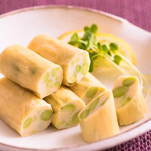 日本國産原料製造 滑溜枝豆腐皮卷 6個 102g (愛知縣製)