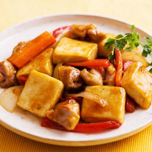 豆腐百珍 黑醋芡汁炒鹽豆腐 2件 350g (愛知縣製)