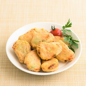 【5%OFF】脆皮鬆軟 雜菜魚肉豆腐塊 10個 180g (兵庫縣製)(賞味期限5/3)
