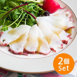 特製葱蒜羅勒醬汁 薄切八爪魚刺身 60g×2個組合 (北海道製)