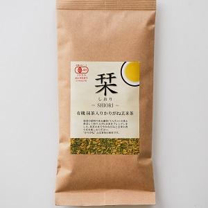 混合抹茶香味 有機玄米茶 100g (島根縣製)