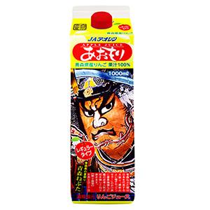 青森睡魔祭繪圖 紙盒裝鮮香蘋果汁 1L (青森縣製)