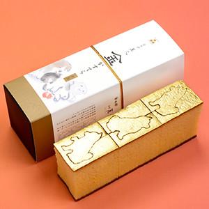 【60%OFF】豆屋金澤萬久 金箔金犬蜂蜜蛋糕 (石川縣製)(賞味期限4/3)