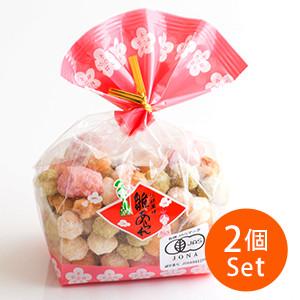 【3%OFF】不含人工色素 雛祭霰餅 60g ×2個組合(宮城縣製)