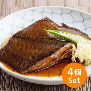 【10%OFF】日本料亭滋味 醬汁煮天然比目魚125g×4人份量(千葉縣製)