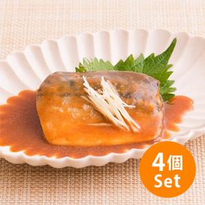 【10%OFF】袪骨軟滑魚肉 味噌煮鯖魚 95g×4人份量(千葉縣製)