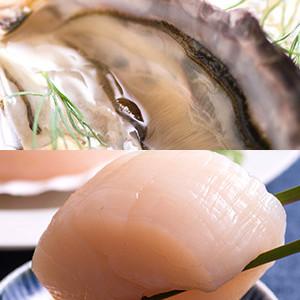 【35%OFF】Oisix 兩大人氣海鮮組合(肥美大粒廣島蠔&鮮甜肉厚帆立貝柱)