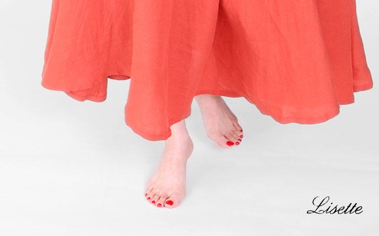 夏色のフレアスカート
