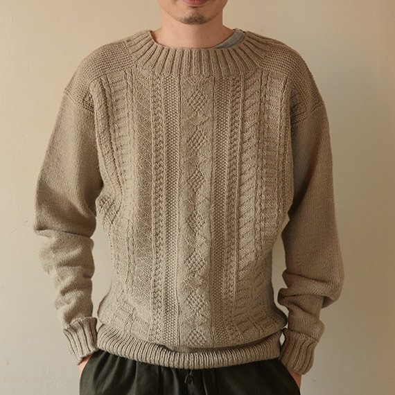 Knitting Patterns For Guernsey Sweaters : [Envelope online shop] Guernsey sweater KIT MOORIT Kits