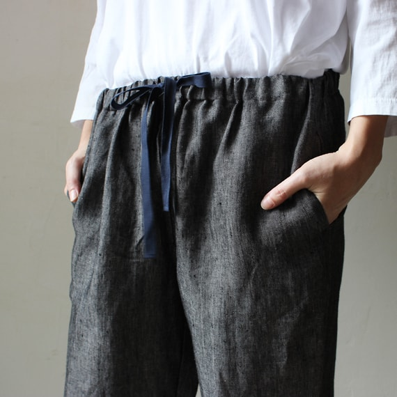 Envelope online shop] Easy Pants (Libeco Linen) the linen bird home