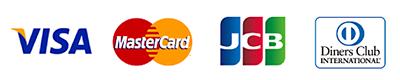 Visa, Master, JCB, American Express, Diners Club