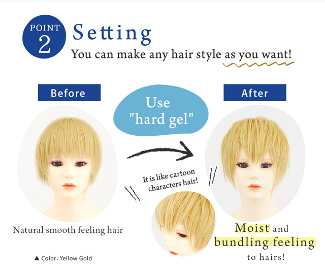 You can make any hair style as you want!