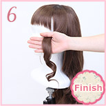 how to curl wig 05